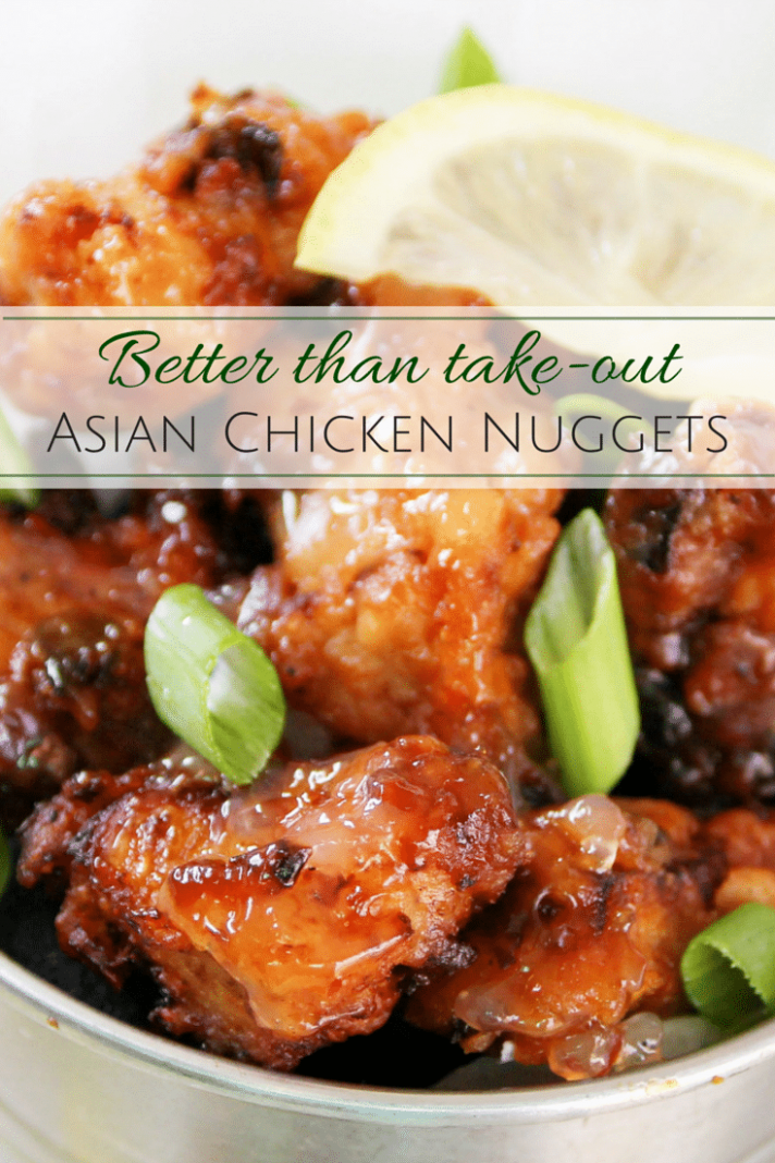 Asian-style Chicken Nuggets - The Chunky Chef - asian recipes chicken