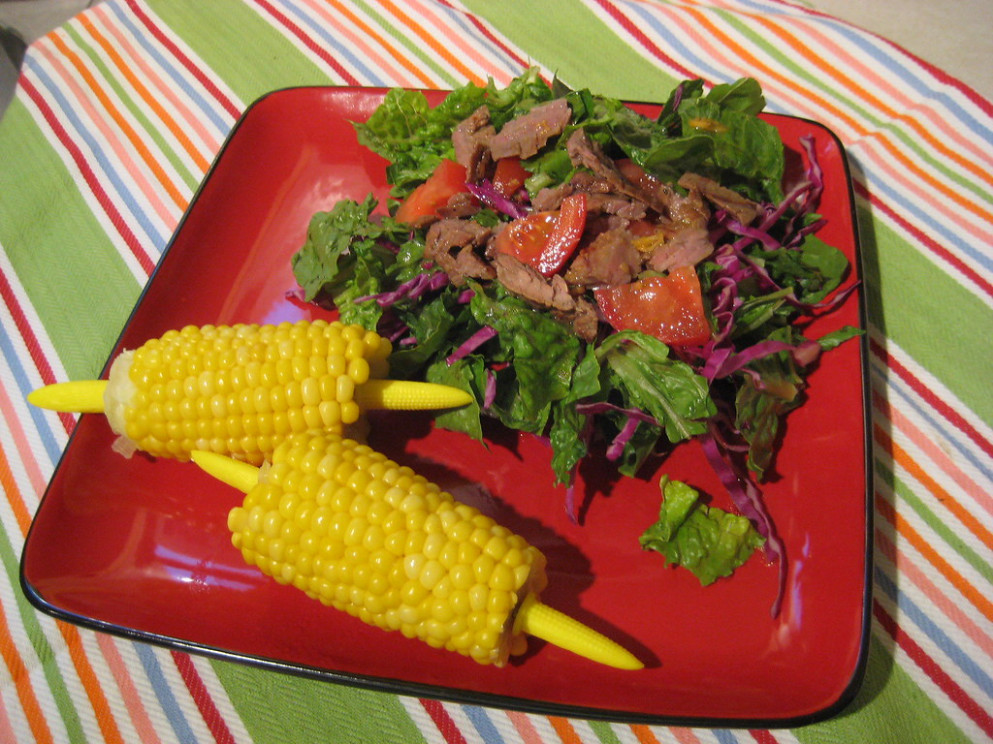 Asian Style Steak with Salad - dinner recipes steak