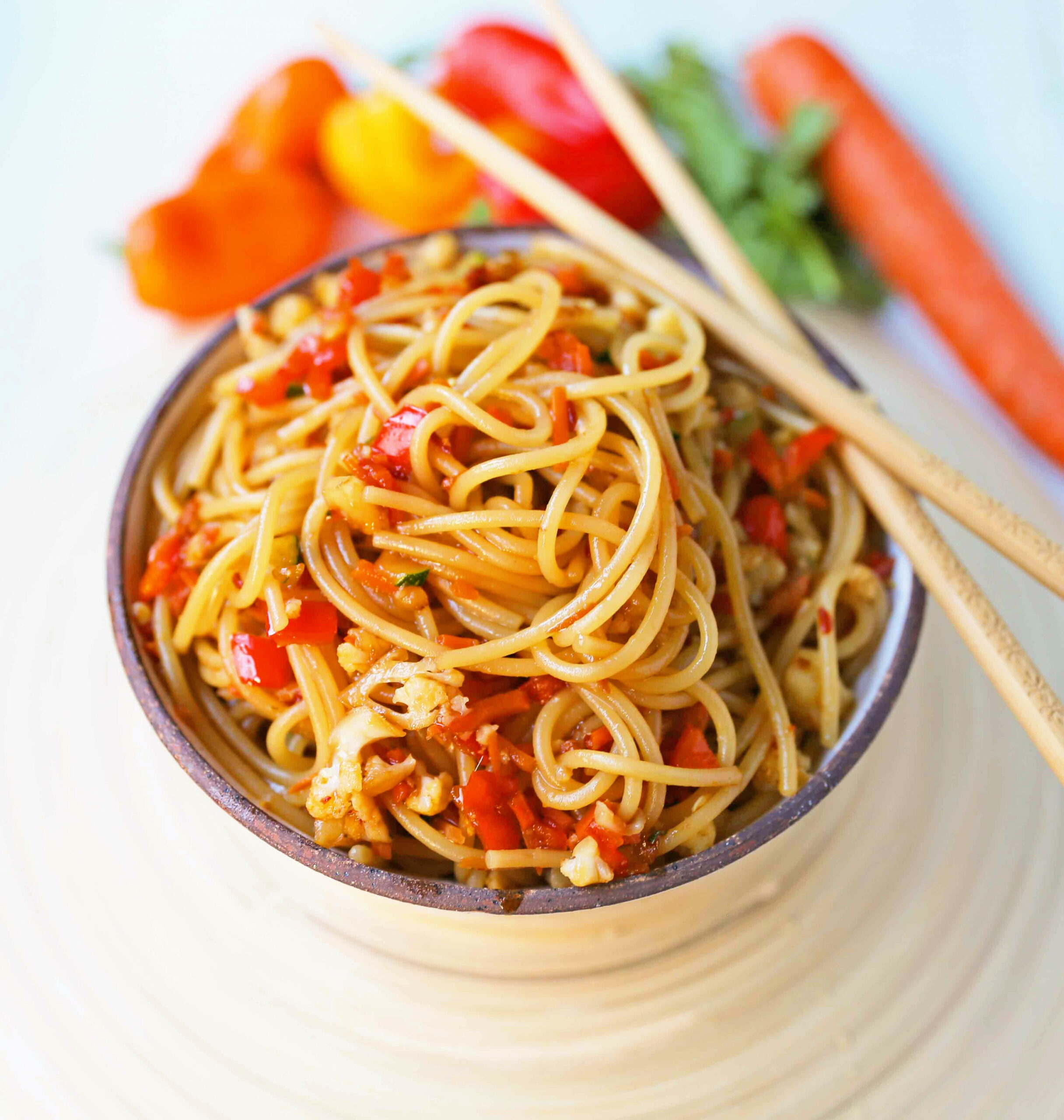 Asian Vegetable Stir-Fry Noodles - vegetarian noodle recipes