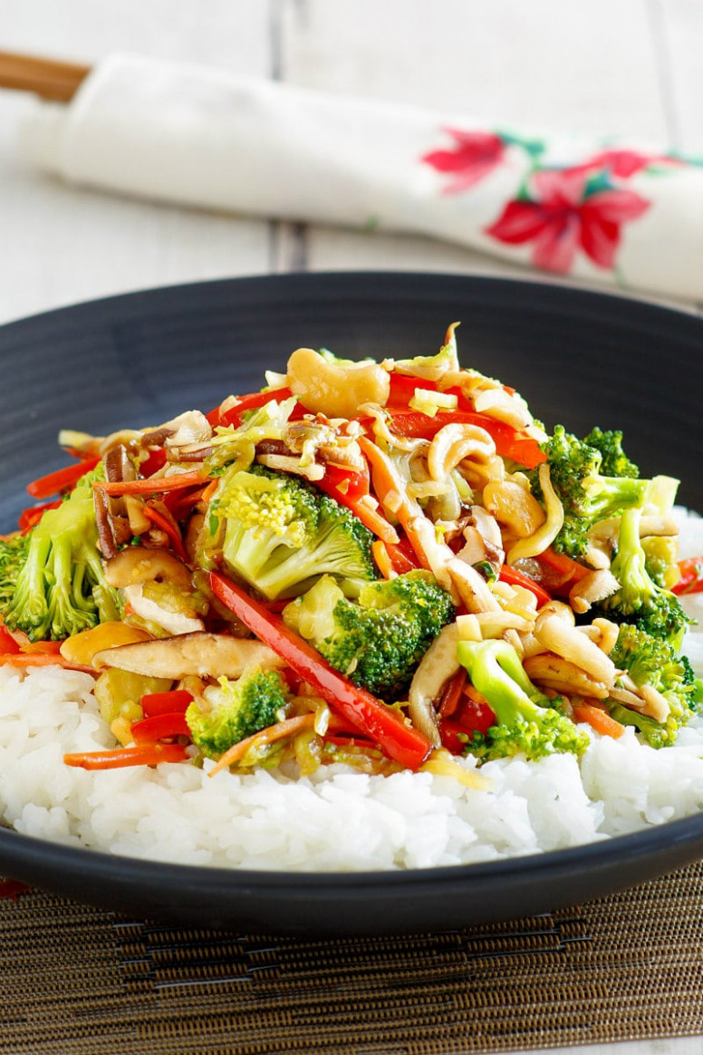 Asian Vegetable Stir Fry - stir fry recipes vegetarian