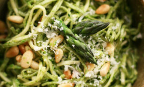 Asparagus Pesto With Pasta – Olive Recipes Vegetarian
