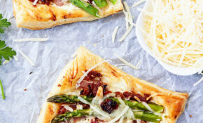 Asparagus Prosciutto Puff Pastry Pizzas – Recipes With Puff Pastry For Dinner