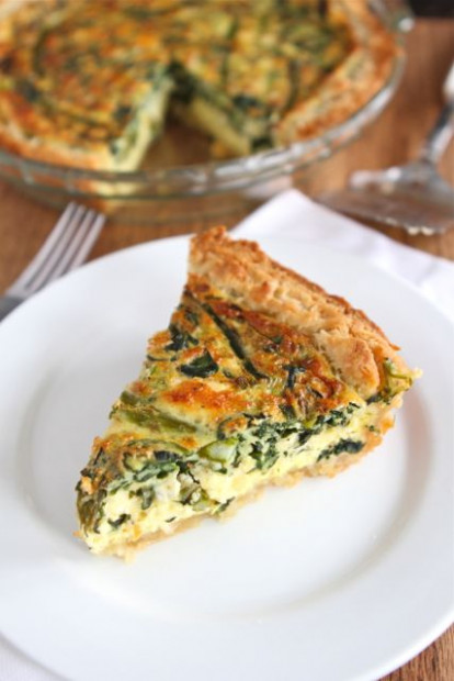 Asparagus Quiche Recipe - recipe vegetarian quiche spinach