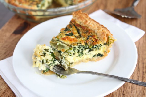 Asparagus, Spinach, & Feta Quiche Recipe | Vegetarian ..