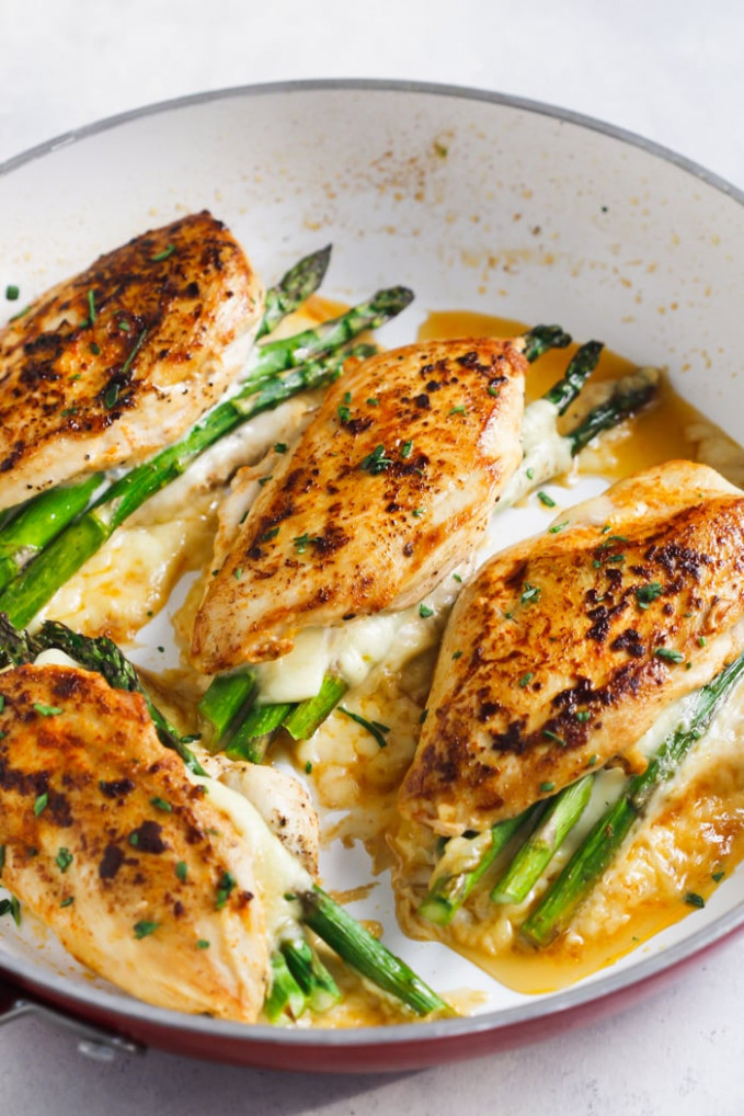 Asparagus Stuffed Chicken Breast (Delicious One-Pan Dinner) - quick recipes chicken breast