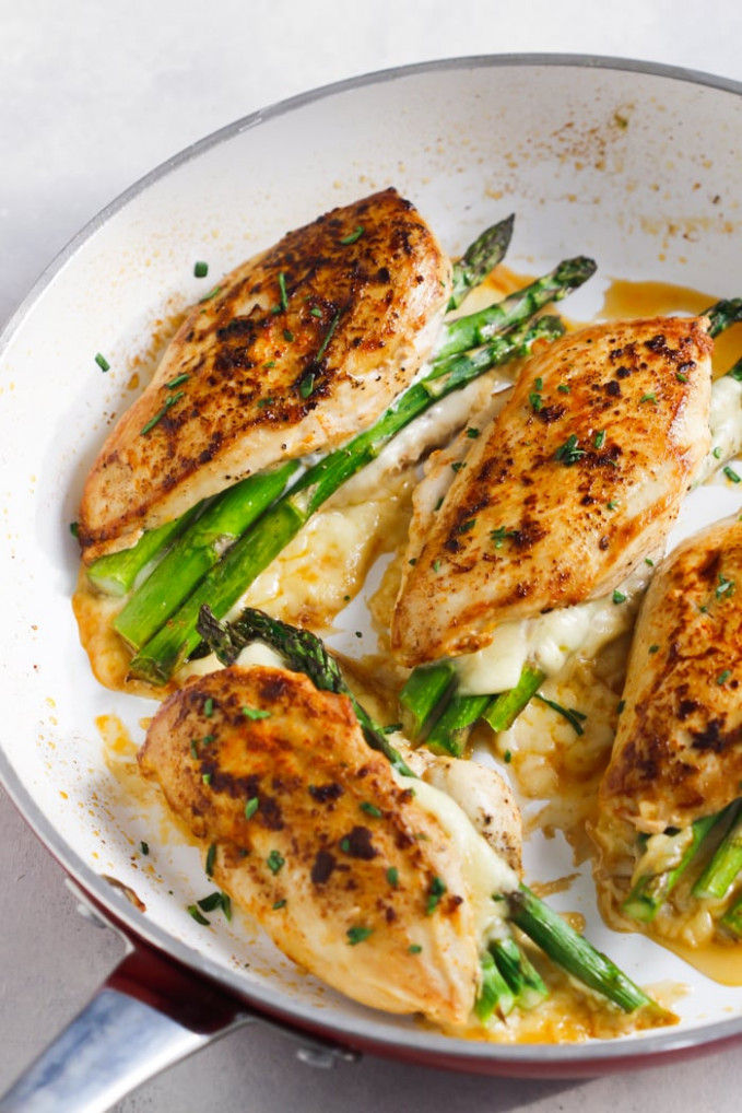 Asparagus Stuffed Chicken Breast (Delicious One-Pan Low ..