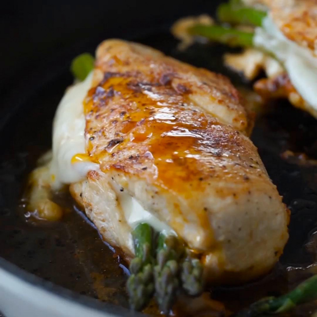Asparagus Stuffed Chicken Breast Recipe By Tasty - Food Recipes With Chicken Breast