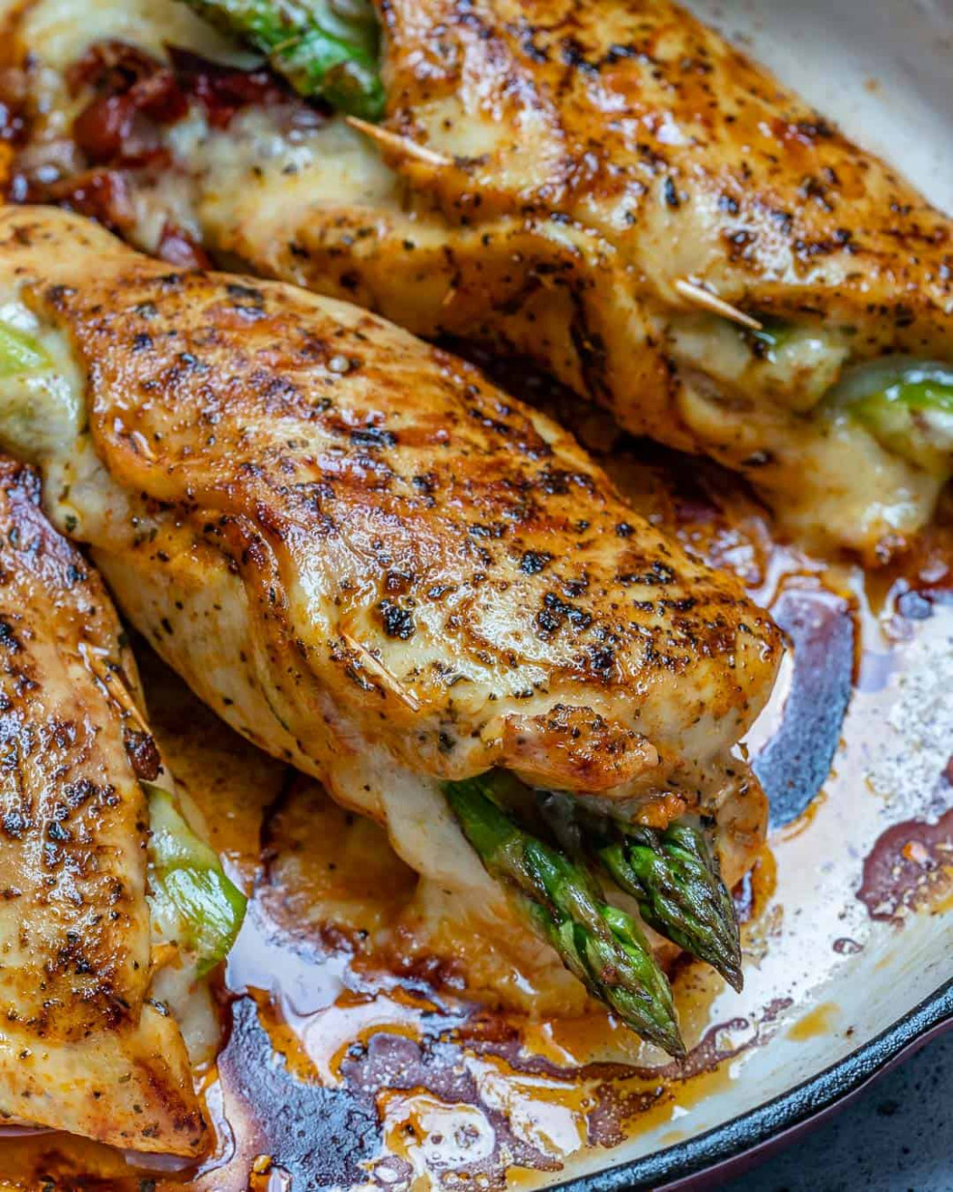 Asparagus Stuffed Chicken Breast - recipes using cooked chicken