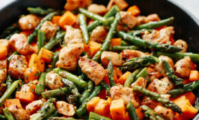 Asparagus Sweet Potato Chicken Skillet – Recipes Asparagus And Chicken