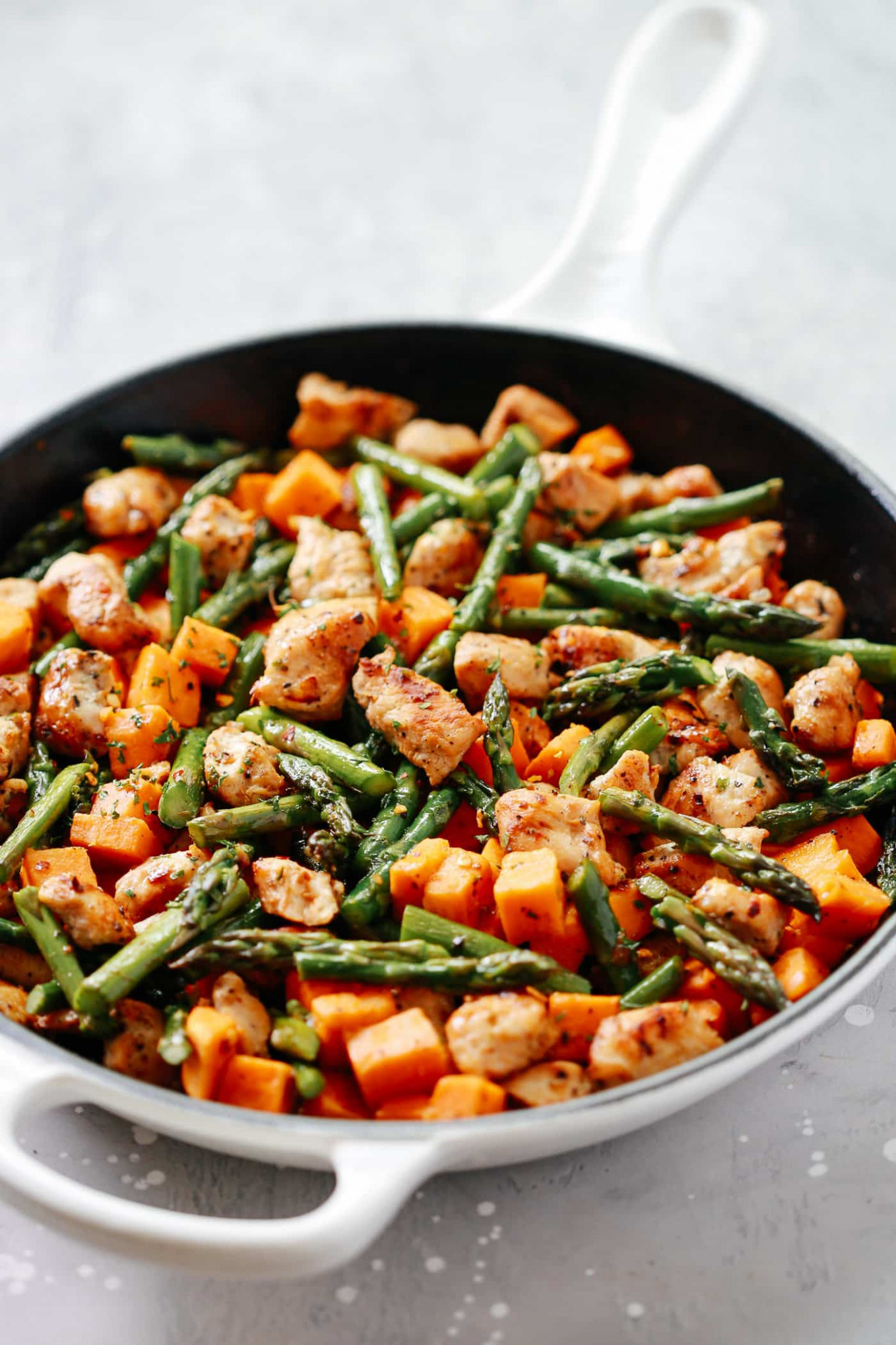 Asparagus Sweet Potato Chicken Skillet - Recipes Asparagus And Chicken