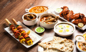 Assorted Indian Non Vegetarian Food Recipe Served In A Group..