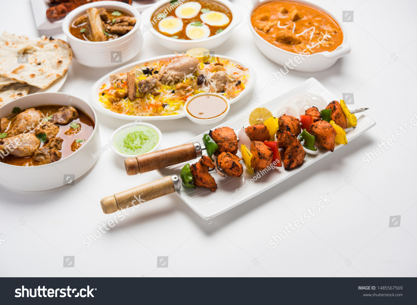 Assorted Indian Non Vegetarian Food Recipe Stock Photo (Edit ..