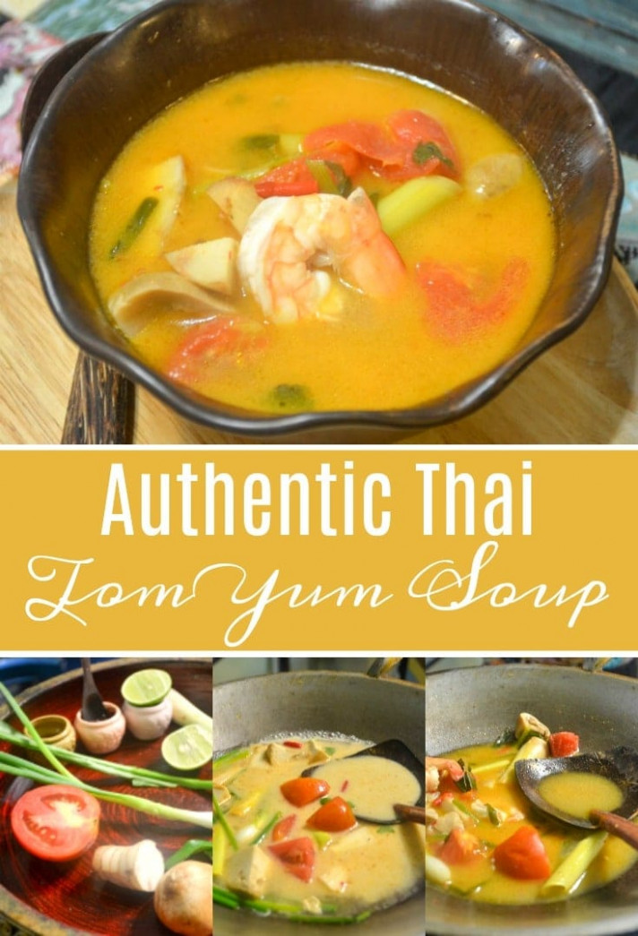 Authentic Thai Tom Yum Soup Recipe - authentic thai food recipes with pictures