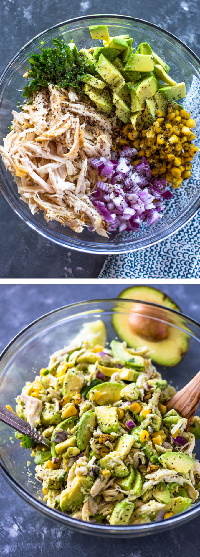 Avocado Chicken Salad - Healthy Recipes Rotisserie Chicken