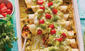 Avocado Enchiladas with Corn & Black Beans