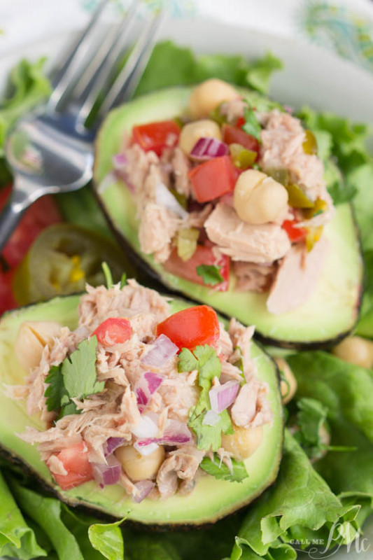 Avocado Filled Canned Tuna Ceviche Salad > Call Me PMc - recipes canned tuna healthy