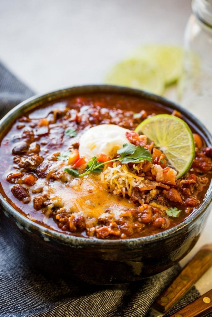 Award Winning Instant Pot Chili Recipe - Oh Sweet Basil - recipes instant pot healthy