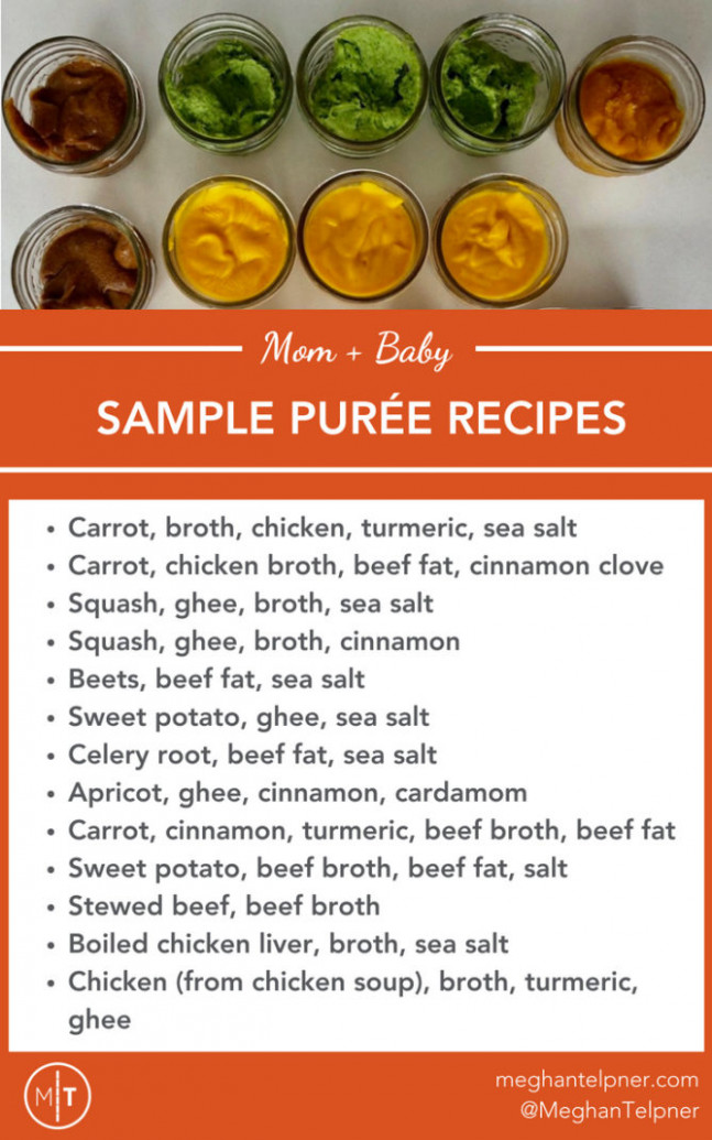 Baby Food Introduction, Purees, Solids and Meal Time Practices - recipes using baby food