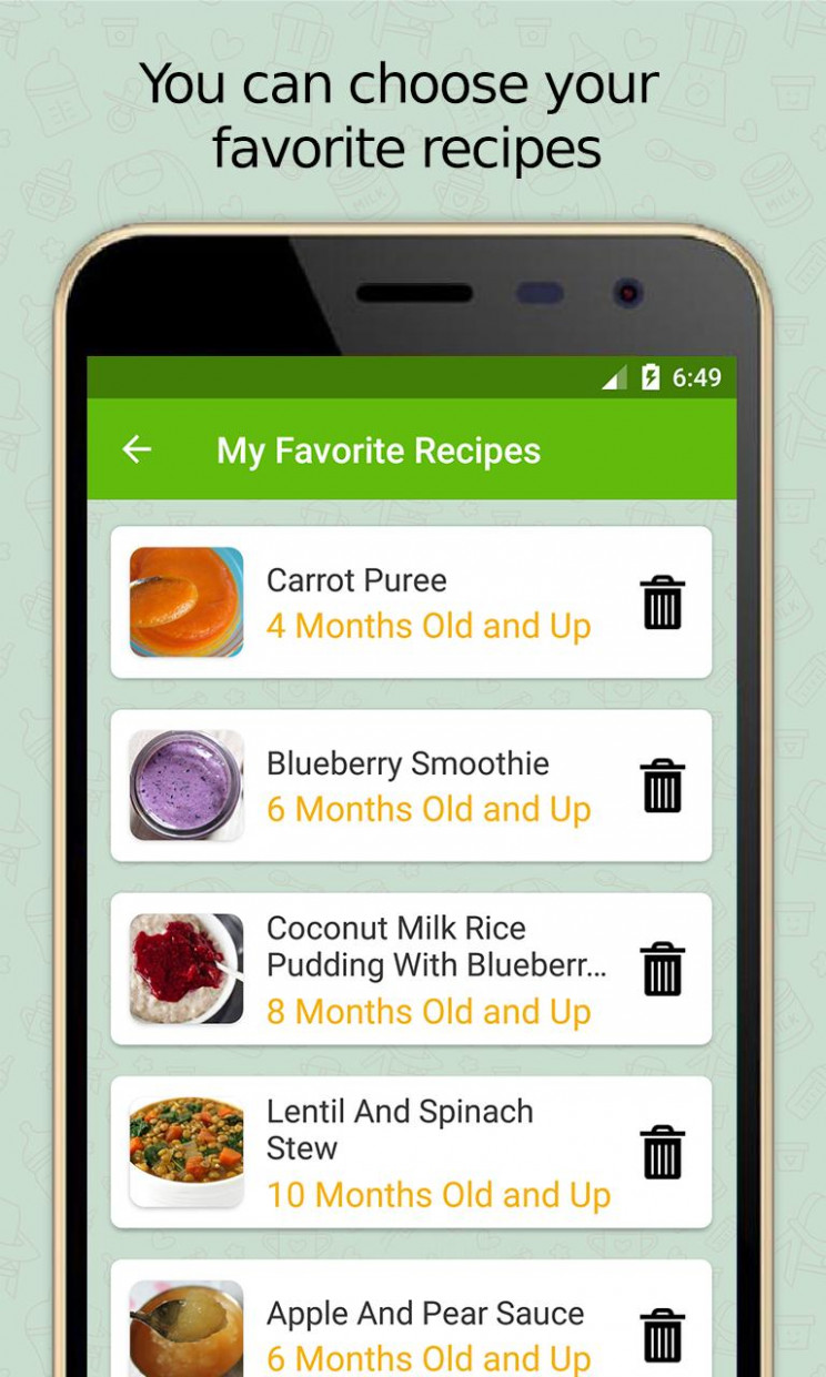 Baby Food Recipe - Homemade Healthy Recipes for Android ..
