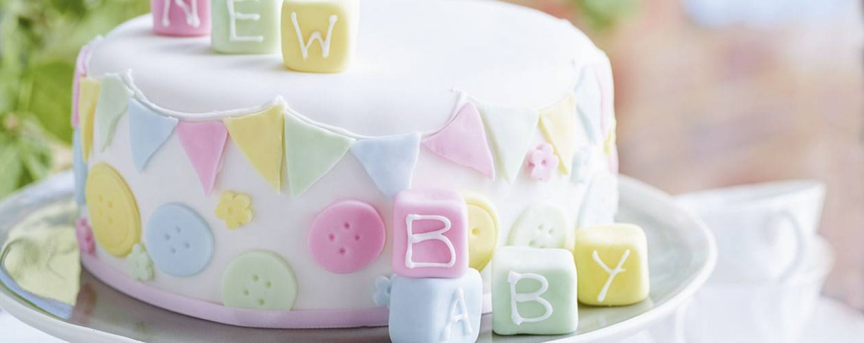 Baby shower cake - Asda Good Living - baby food recipes 6-8 months