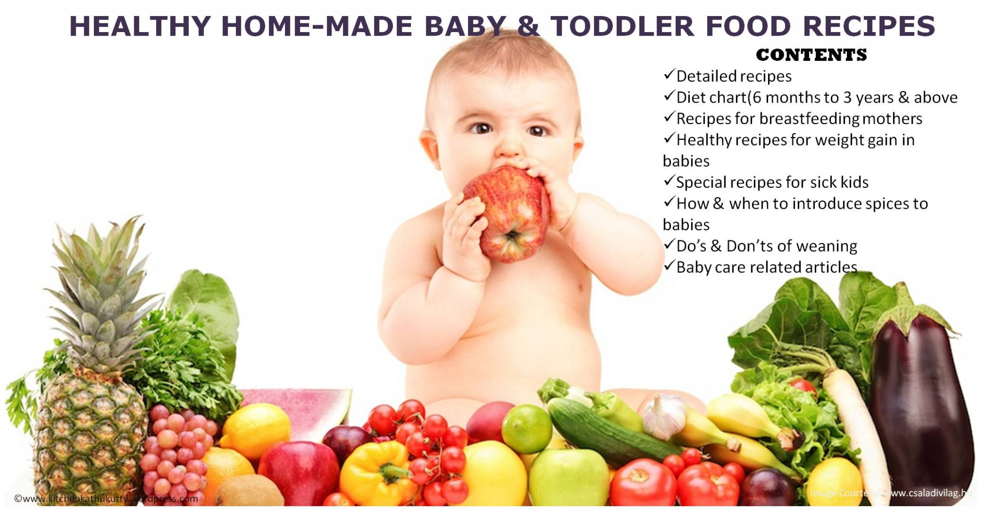 BABY & TODDLER FOOD RECIPES - KITCHEN KATHUKUTTY - recipes to eat healthy