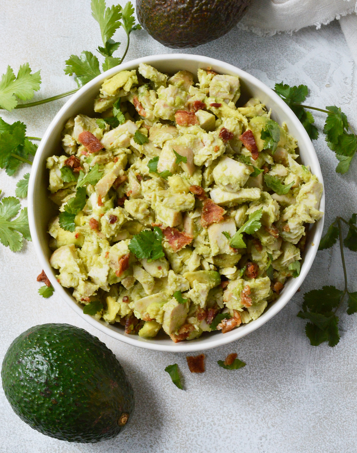 Bacon Avocado Chicken Salad Whole30 Recipe - WonkyWonderful - healthy recipes avocado