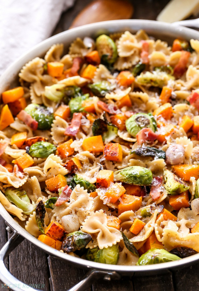 Bacon, Brussels Sprouts, Butternut Squash Pasta - Recipe ..