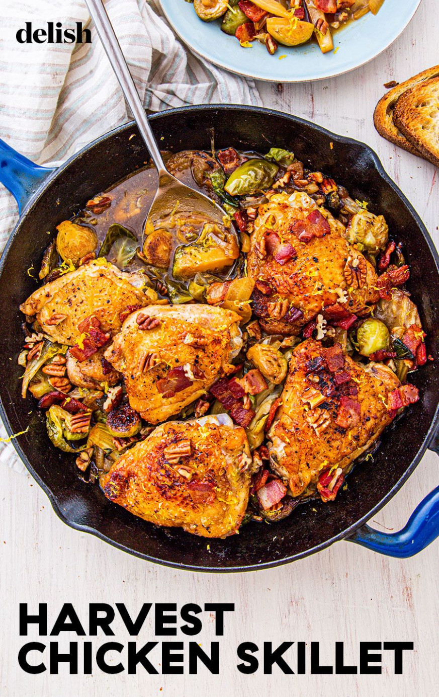 Bacon Harvest Chicken Skillet - chicken recipes delish