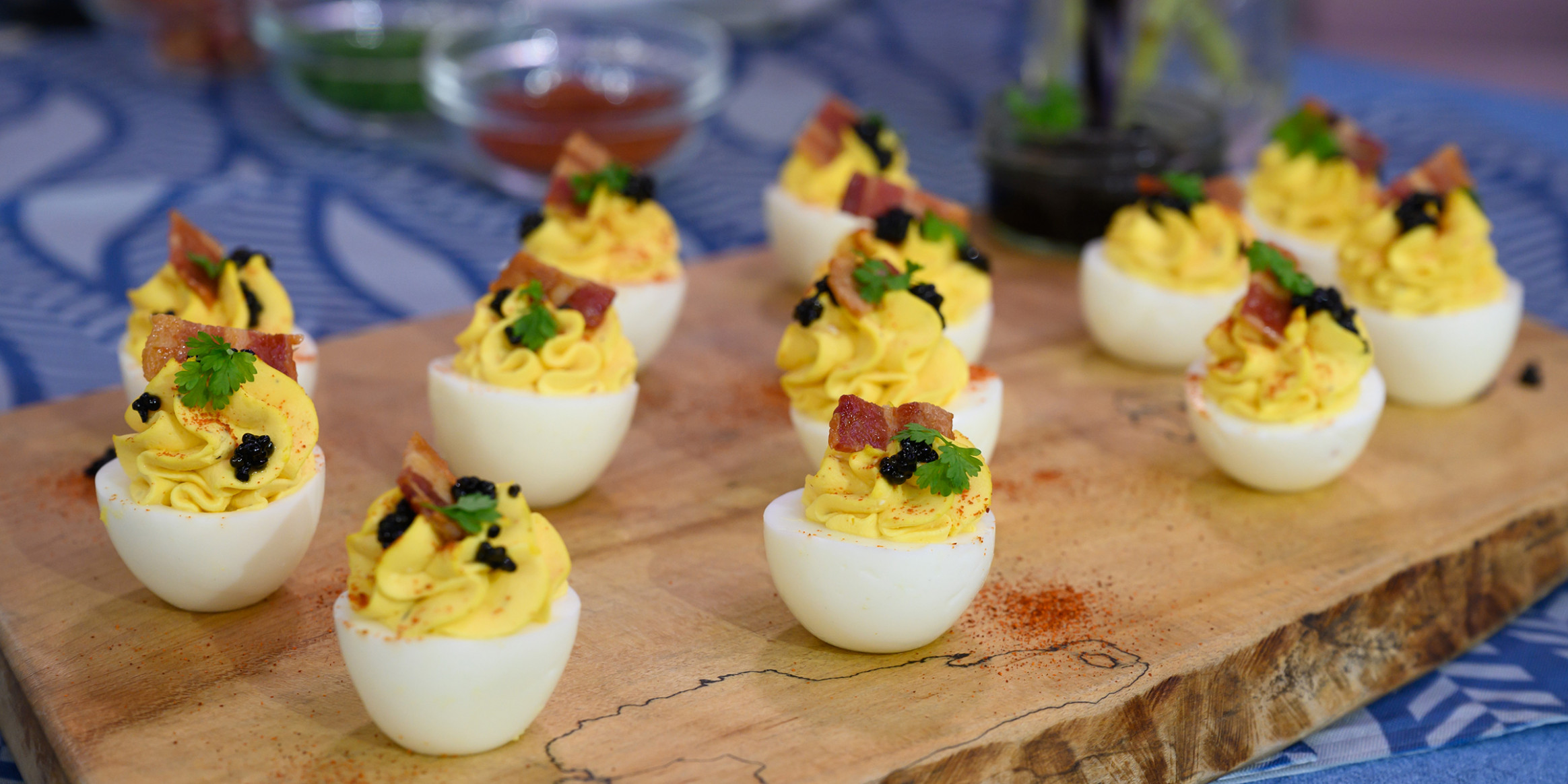 Bacon-Topped Deviled Eggs - food recipes egg