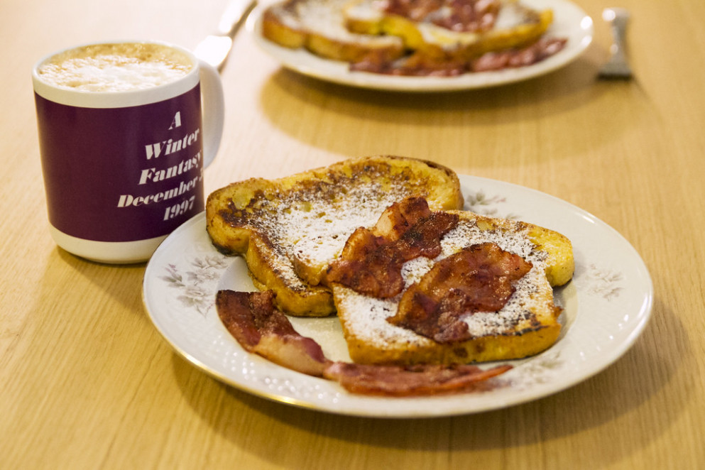 Bacon-topped French toast - norwegian food recipes