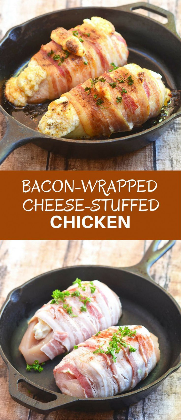 Bacon-Wrapped Cheese-Stuffed Chicken | Recipe | Delicious ..