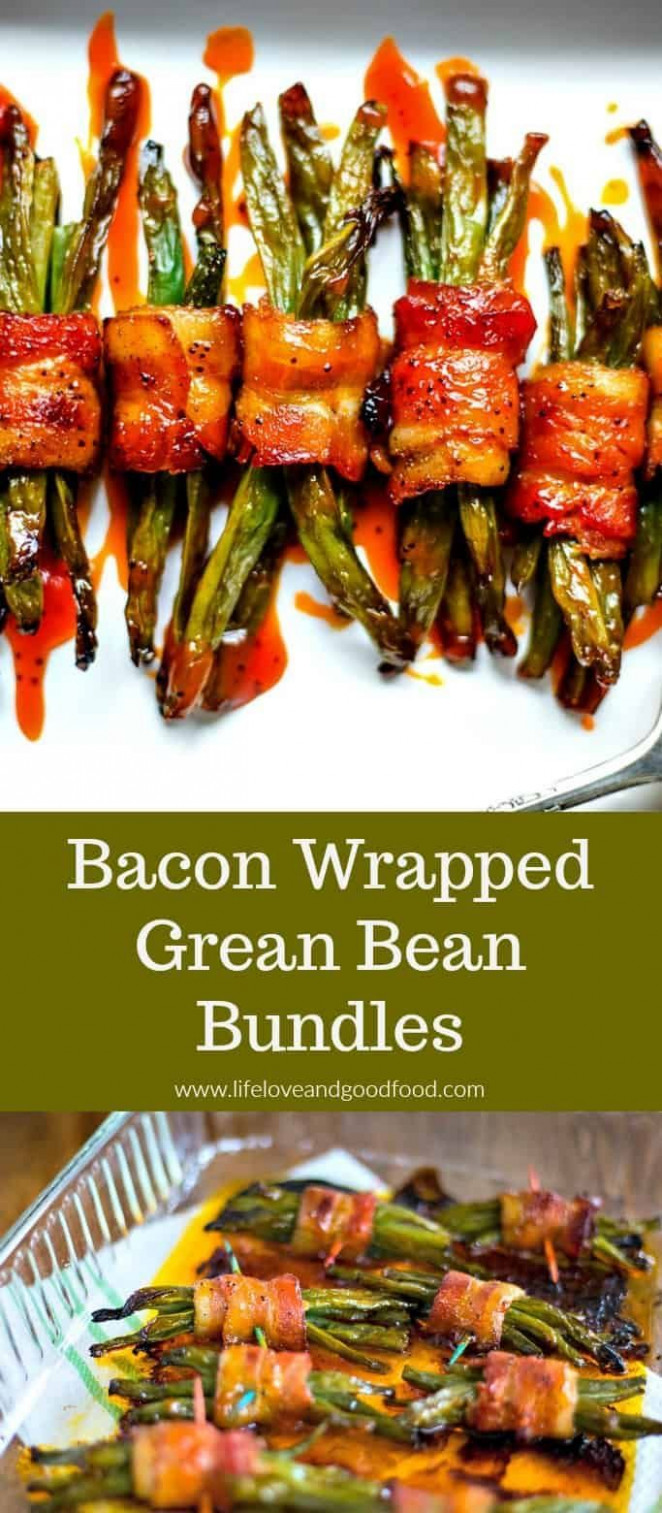 Bacon Wrapped Green Bean Bundles - dinner recipes with bacon