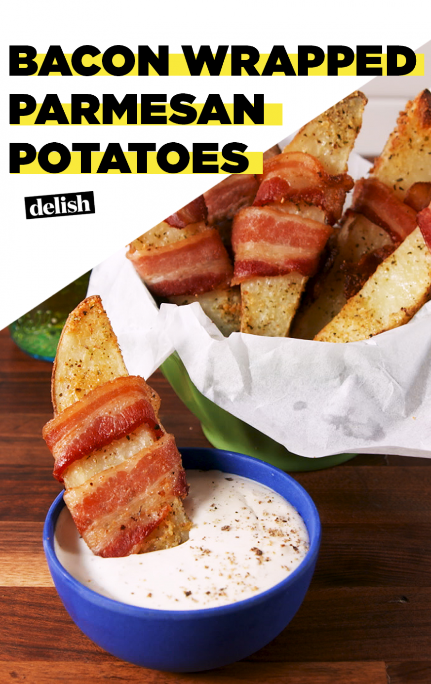 Bacon Wrapped Parmesan Potatoes - Dinner Recipes With Bacon
