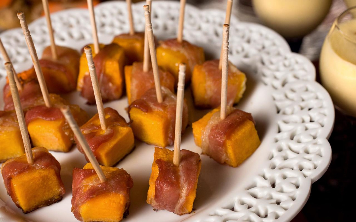Bacon-Wrapped Squash Bites Recipe - Chowhound - dinner recipes with bacon