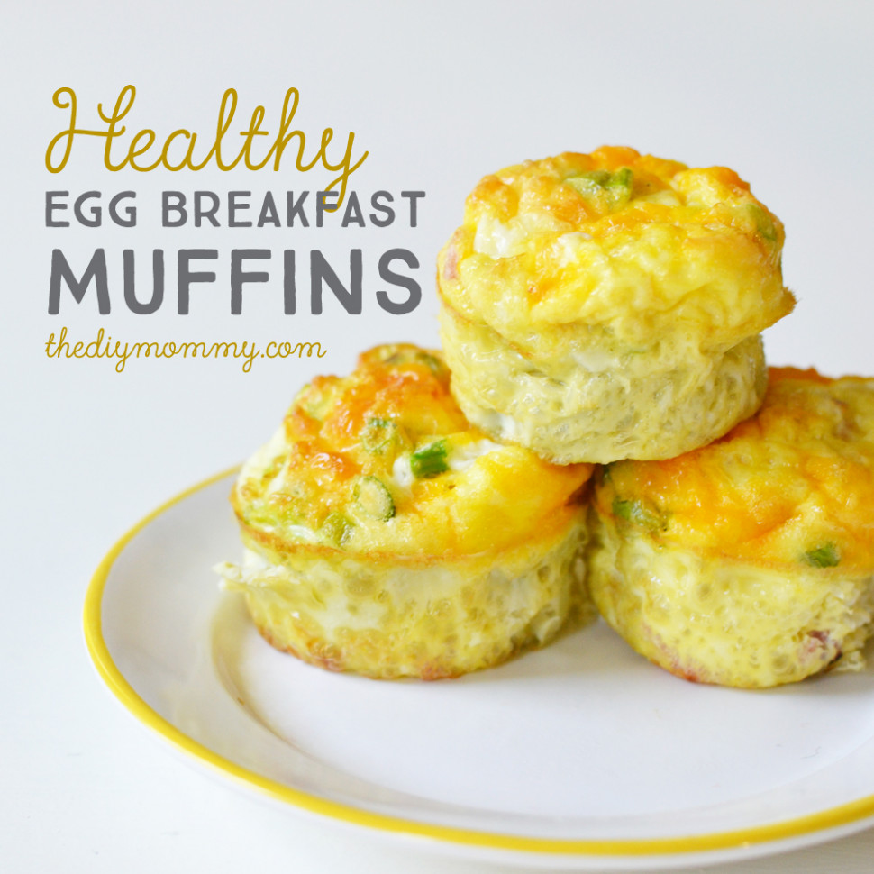 Bake Healthy Egg Breakfast Muffins | The DIY Mommy - healthy recipes eggs
