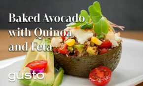 Baked Avocados With Quinoa And Feta | The Urban Vegetarian – Urban Vegetarian Recipes