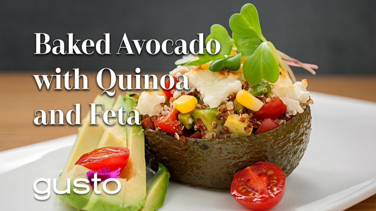 Baked Avocados with Quinoa and Feta | The Urban Vegetarian - urban vegetarian recipes