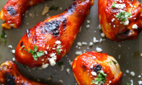 Baked Buffalo Spicy Chicken Drumsticks With Blue Cheese ..