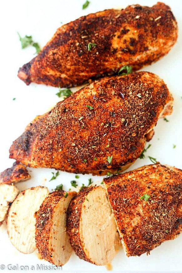 Baked Cajun Chicken Breasts - Gal on a Mission - recipes roast chicken breast