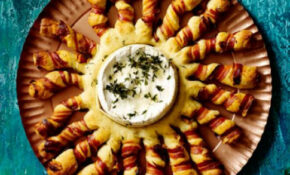 Baked Camembert With Bacon Wrapped Breadsticks Recipe ..