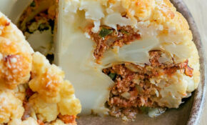 Baked Cheese & Beef Stuffed Cauliflower Recipe — Eatwell101 – Quick Easy Shrimp Recipes Dinner