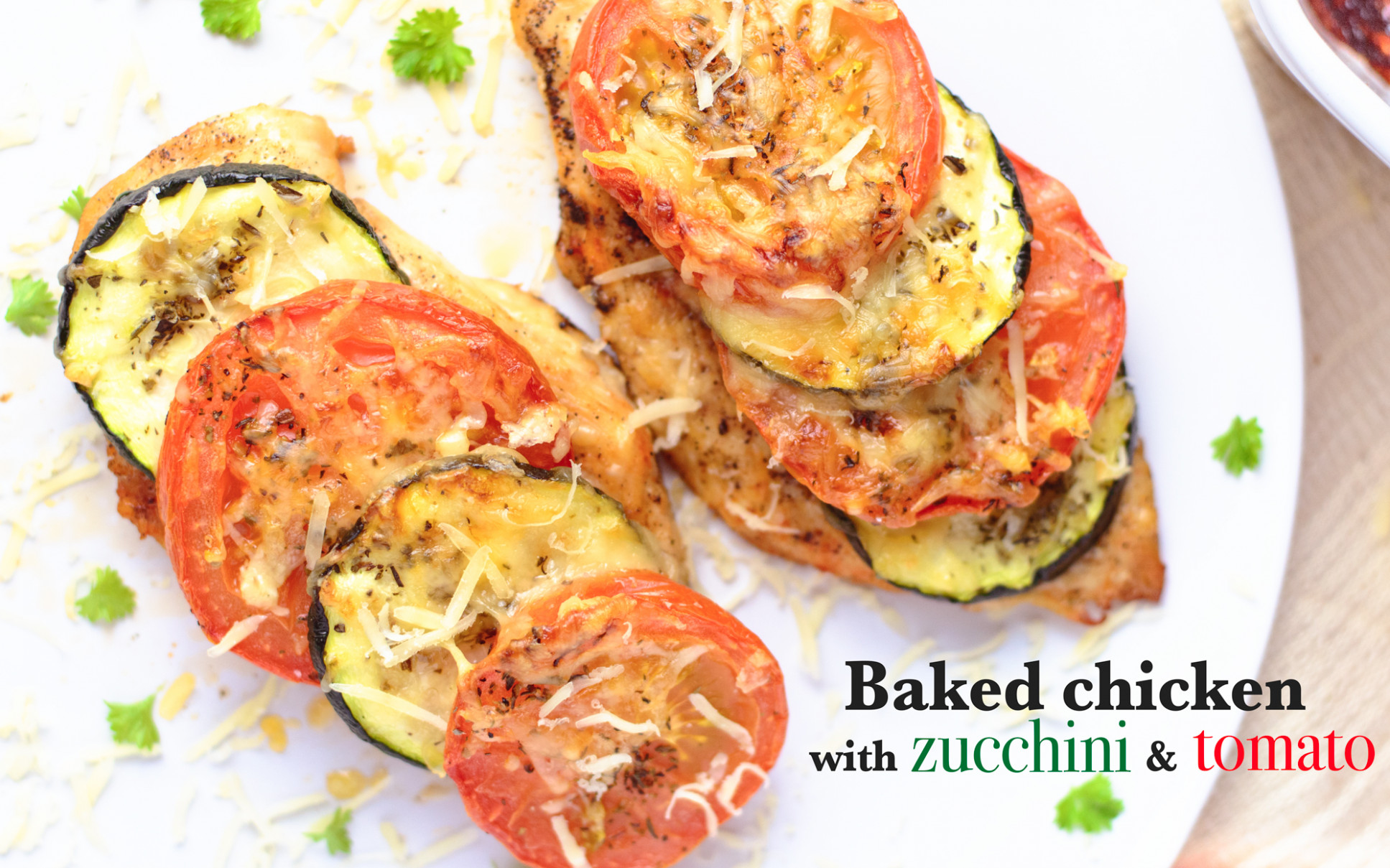 Baked chicken breast with zucchini and tomato - baked chicken and zucchini recipes easy