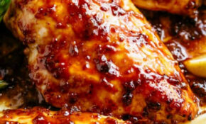 Baked Chicken Breasts With Honey Mustard Sauce – Cafe Delites – Chicken Recipes Juicy