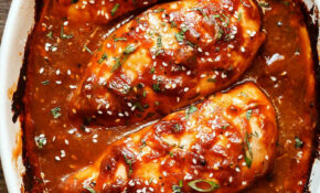 Baked Chicken Breasts With Sticky Honey Sriracha Sauce ..