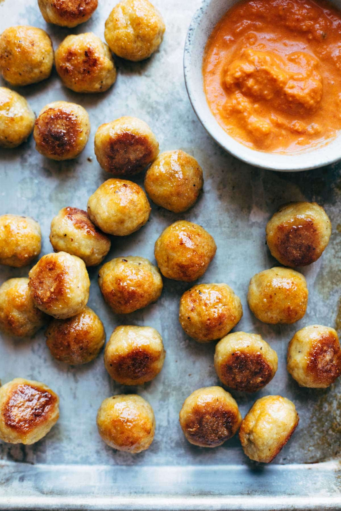 Baked Chicken Meatballs - recipes you can make with ground chicken
