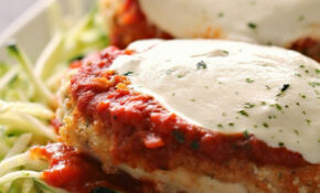 Baked Chicken Parmesan With Zucchini Noodles | Six Sisters ..