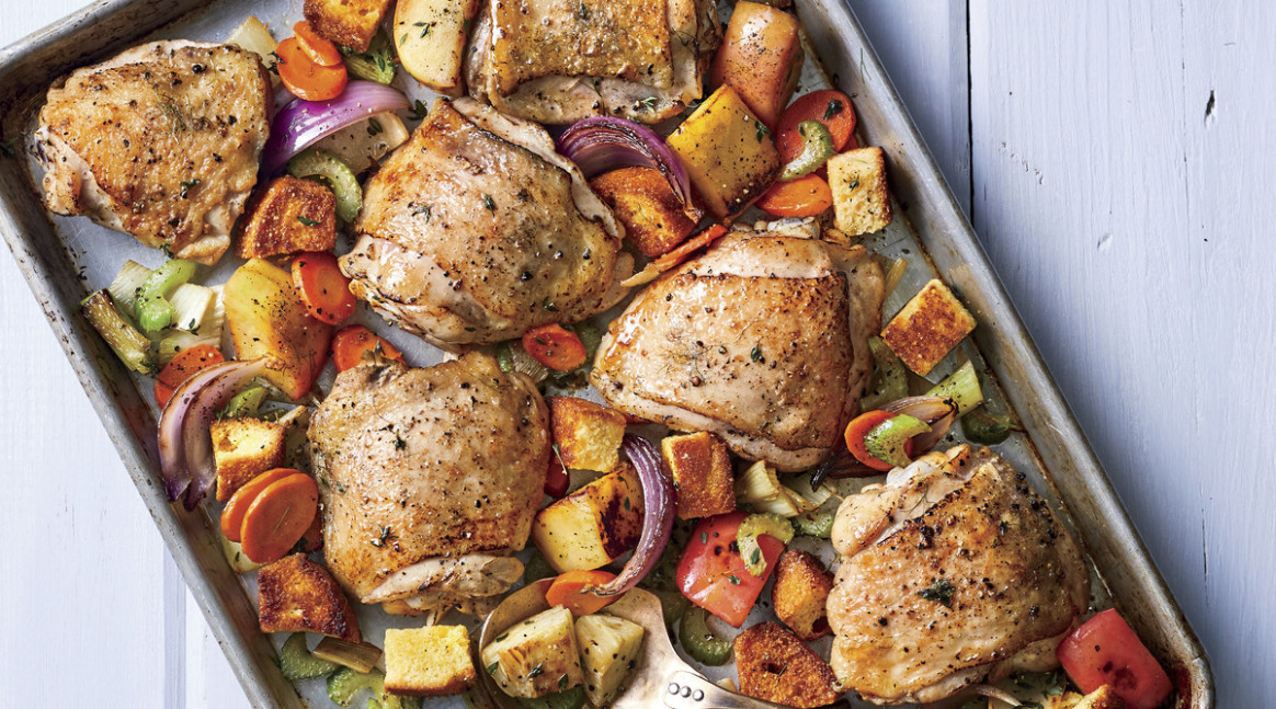 Baked Chicken Thighs Recipe with Dressing - recipes on baked chicken
