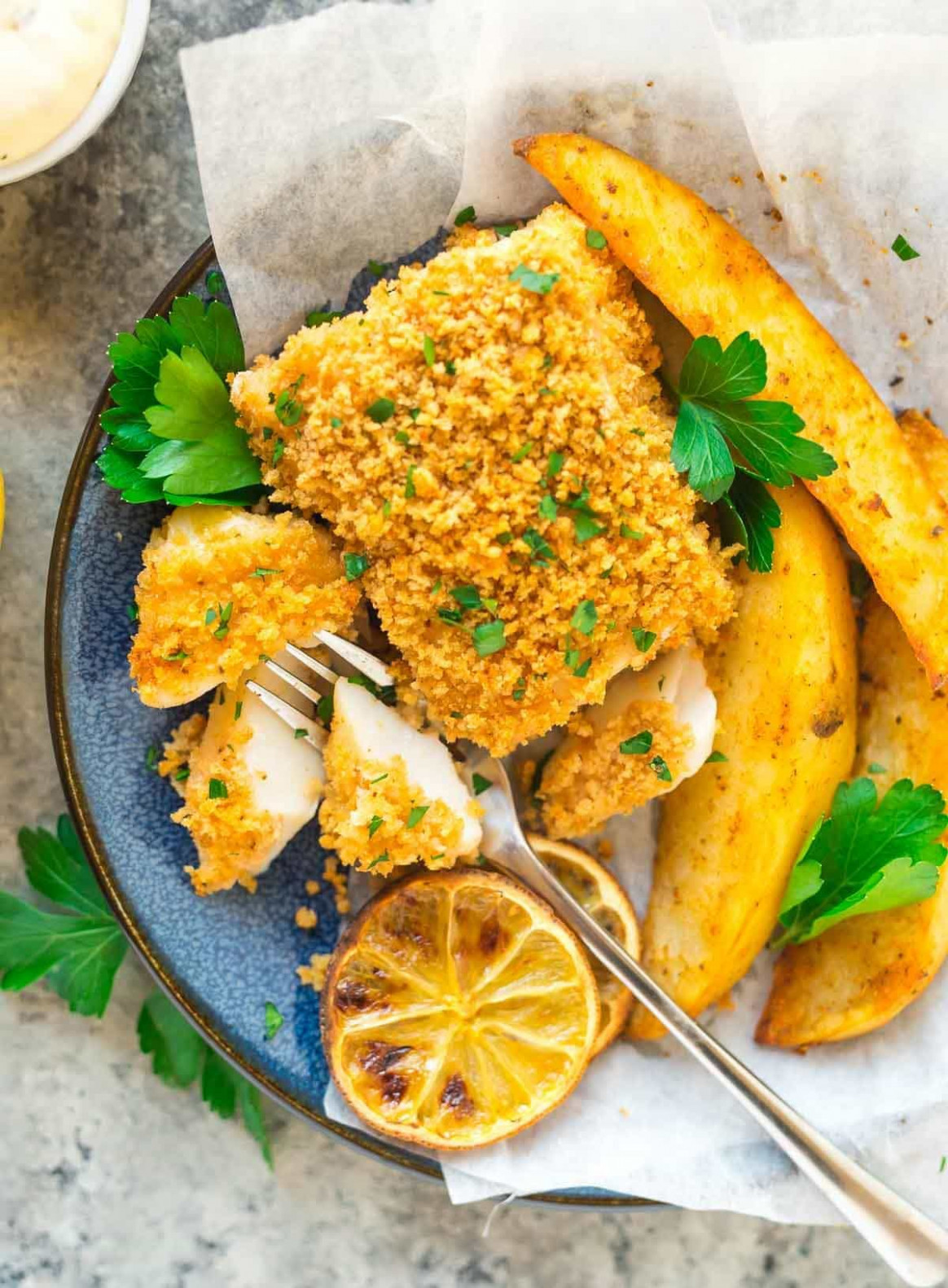 Baked Fish and Chips - dinner recipes oven