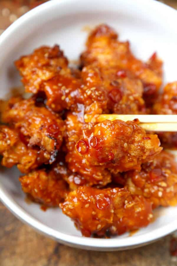 Baked General Tso Chicken Recipe (Video) - Pickled Plum ..