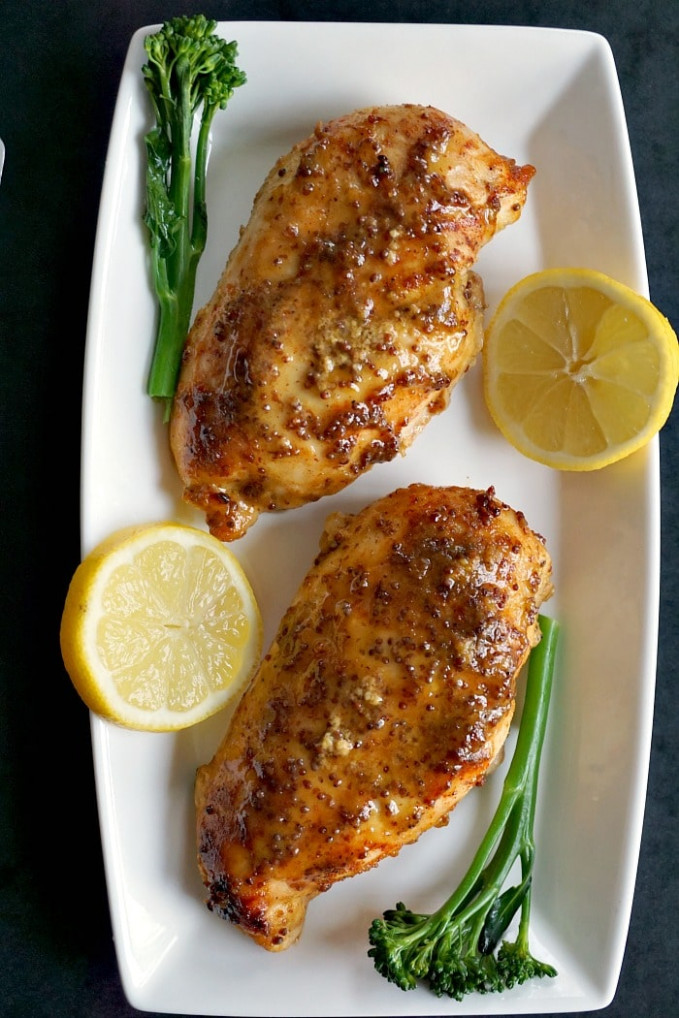 Baked Honey Mustard Chicken Breast With A Touch Of Lemon ..